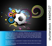 abstract football vector design ... | Shutterstock .eps vector #64604137