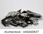 destroyed hard disk drive | Shutterstock . vector #646060837