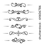 swirl elements and monograms... | Shutterstock . vector #64606786