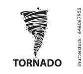 tornado icon. cyclone storm... | Shutterstock .eps vector #646067953
