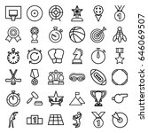 competition icons set. set of... | Shutterstock .eps vector #646069507