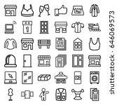 front icons set. set of 36... | Shutterstock .eps vector #646069573