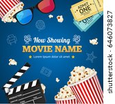 cinema background movie name on ... | Shutterstock .eps vector #646073827
