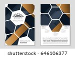 abstract vector layout... | Shutterstock .eps vector #646106377