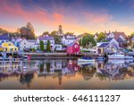 portsmouth  new hampshire  usa... | Shutterstock . vector #646111237
