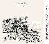 anjuna beach  goa  india....   Shutterstock . vector #646116973