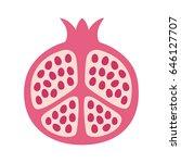 pomegranate fruit cut in half... | Shutterstock .eps vector #646127707