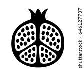 pomegranate fruit cut in half... | Shutterstock .eps vector #646127737