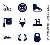sport icons set. set of 9 sport ...