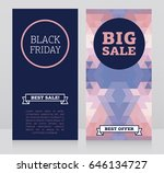 set of banners for black friday ... | Shutterstock .eps vector #646134727