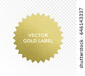 gold label multi point star... | Shutterstock .eps vector #646143337