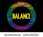 Balance Word Cloud Collage ...