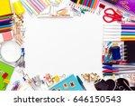 back to school supplies | Shutterstock . vector #646150543