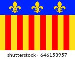 flag of millau is a commune in... | Shutterstock . vector #646153957