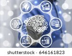 artificial intelligence... | Shutterstock . vector #646161823