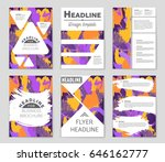 abstract vector layout... | Shutterstock .eps vector #646162777