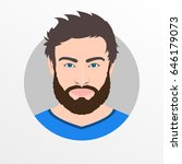 male avatar icon or portrait.... | Shutterstock . vector #646179073