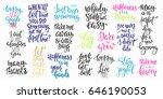 lettering photography overlay... | Shutterstock .eps vector #646190053