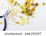 jewelry making and beading... | Shutterstock . vector #646192297