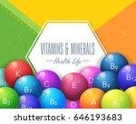 vitamins and minerals concept...