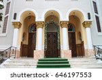 entry to church biserica buna... | Shutterstock . vector #646197553