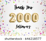 2000 followers thank you gold... | Shutterstock . vector #646218577