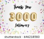 3000 followers thank you gold...   Shutterstock . vector #646218583