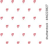 pattern with hearts abstract... | Shutterstock .eps vector #646223827