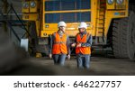 worker in front of a bug truck | Shutterstock . vector #646227757