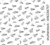 seamless pattern with vector... | Shutterstock .eps vector #646236757