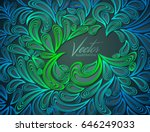 abstract vector background.... | Shutterstock .eps vector #646249033