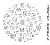 round line banner for big data. ...   Shutterstock . vector #646250023