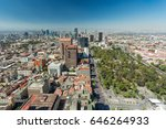 mexico city skyline aerial view | Shutterstock . vector #646264933