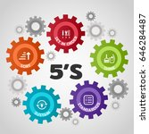 5s methodology management. sort.... | Shutterstock .eps vector #646284487
