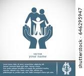 business cards design. family... | Shutterstock .eps vector #646295947