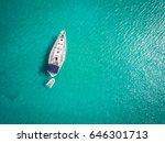 White Yacht Berthed On Adriati...