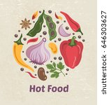 spice circle background with...   Shutterstock .eps vector #646303627