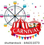 carnival show and party... | Shutterstock . vector #646311073