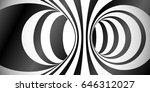 vector circles surface optical... | Shutterstock .eps vector #646312027