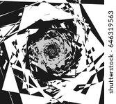 abstract geometric illustration ... | Shutterstock .eps vector #646319563