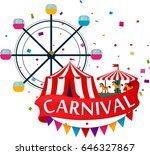 carnival show and party... | Shutterstock .eps vector #646327867