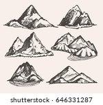 hand drawn doodle landscape... | Shutterstock .eps vector #646331287
