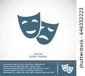 facial mask symbol vector...   Shutterstock .eps vector #646332223