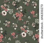seamless floral pattern in... | Shutterstock .eps vector #646333273