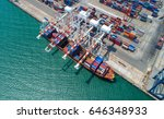 container container ship in... | Shutterstock . vector #646348933