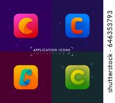 application icons set 03.... | Shutterstock .eps vector #646353793