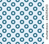 blue circles seamless pattern | Shutterstock .eps vector #646354243
