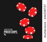 falling red poker chips... | Shutterstock .eps vector #646358737