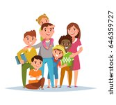 big international family with... | Shutterstock .eps vector #646359727