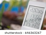 weather station device with... | Shutterstock . vector #646363267